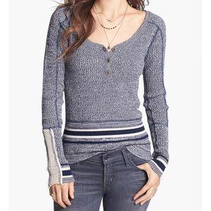 Free People Sock Monkey Pullover Sweater